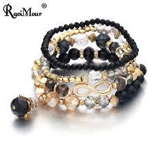beading elastic bracelet images Ravimour women bracelet infinity multilayer crystal bead elastic jpg