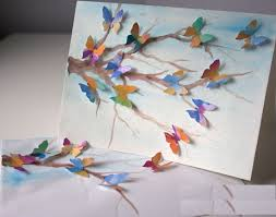 creative ideas to greeting cards how i can create a butterfly
