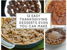 12 easy thanksgiving desserts even you can make just a pinch
