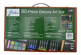 amazon com strokes art supplies deluxe art set for drawing and