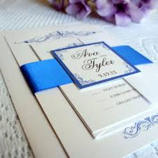 blue wedding invitations royal blue wedding invitation simple from kraftweddingpapers