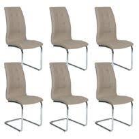 chaise pas cher lot de 6 lot de 6 chaises taupe achat lot de 6 chaises taupe pas cher rue