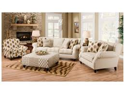 Chairs With Ottomans For Living Room Hazel Simply Linen 4 Pc Sofa Set Sofa Chair Accent Chair And