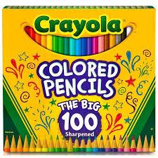 crayola colored pencils 100 count walmart com
