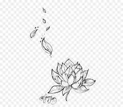 tattoo flower drawings egyptian lotus nelumbo nucifera tattoo flower drawing lotus png