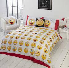 emoji reversible single duvet set