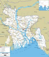 map on road detailed clear large road map of bangladesh ezilon maps