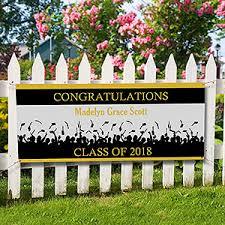 congratulations graduation banner personalized graduation banners congratulations