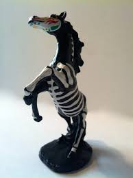 horse skeleton halloween day of the dead unicorn horse sugar skull pet memorial dia de los
