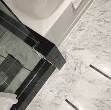 White Carrera Marble Bathroom - one carrara marble bathroom four colours maria killam the