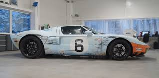 gulf gt40 1350hp twin turbo ford gt in gulf gt40 distressed weathered livery