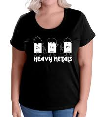 what are the heavy metals on the periodic table heavy metals periodic table of elements women s plus size t shirt