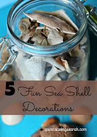 5 sea shell decorations to remind you of the beach year round