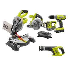 home depot black friday lithium ion cordless power tools 5 tool kit ryobi one 18 volt lithium ion cordless combo kit w