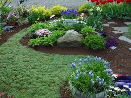 Rock Garden Cground Lofty Garden Ground Cover In The Gardening Design