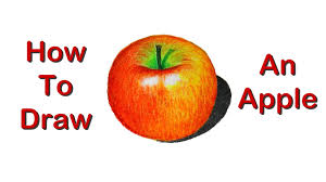 how to draw an apple realism with oil pastel youtube
