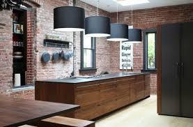parement cuisine design d intérieur parement de brique cuisine en style