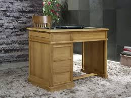 bureau en bois massif petit bureau luc en chêne de style louis philippe surface d