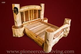 Wooden Log Beds Carved Wood Bed Pioneer Cedar Living