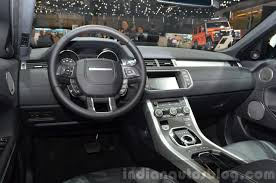 new land rover interior 2015 land rover evoque interior steering wheel at the 2015 geneva
