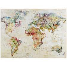 Wooden World Map Wall Art by Wall Art Map Of The World