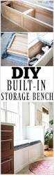 Diy Wooden Storage Bench by Best 25 Storage Benches Ideas On Pinterest Diy Bench Benches