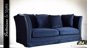 canapé relax 3 places tissu canapé relax et rétro à 3 places tissu bleu nuit intérieurs styles