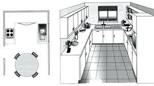 plans de cuisine plan de cuisine en l attrayant amenagee 0 agencement dans le 44 u