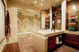 L Shaped Bathroom Vanity by Large Guest Bathroom Ideas With L Shaped Wooden Bath Vanity With