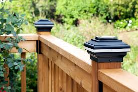 Solar Lights On Fence Posts by Review Aurora Deck Lighting Post Caps Diy House Help