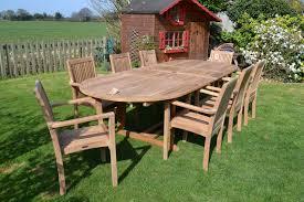 Patio Furniture Sets Uk - 8 10 seater oval teak garden set the antigua