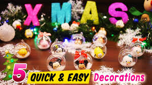 Christmas Decorations 2017 5 Quick And Easy Disney Tsum Tsum Christmas Tree Decorations Youtube