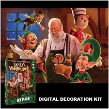 digital decorations projector kit with atmoscheer santa u0027s workshop dvd