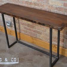 Steel Console Table Wood And Metal Sofa Table Very Awesome Metal Wood Console Table