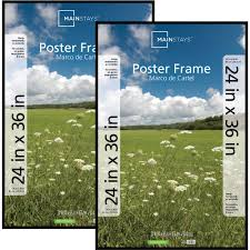 home decor picture frames mainstays 24x36 basic poster u0026 picture frame black set of 2