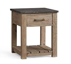 parker reclaimed wood side table pottery barn