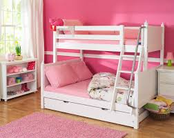 Impressive Girls Bunk Beds Twin Over Full White Bunk Beds With - Girls white bunk beds