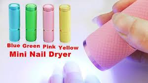 buyincoins mini portable led nail dryer curing lamp flashlight