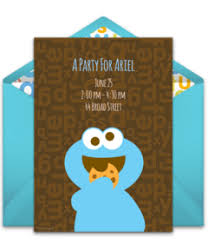digital sesame street invitations customize online