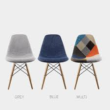 replica fabric eames chair set of 2