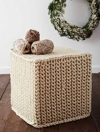 Crochet Ottoman Ravelry Mega Crochet Ottoman Pattern By Bernat Design Studio