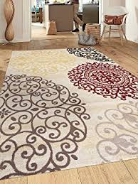 Modern Floral Area Rugs Rugshop Contemporary Modern Floral Flowers Area Rug 9