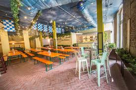 German Beer Garden Table by A Look Inside Tchoupitoulas Beer Garden Eater New Orleans
