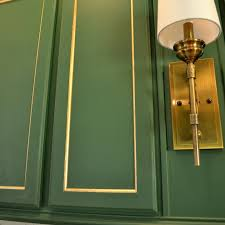 Gold Kitchen Cabinets - adding shimmer u0026 shine to my cabinet doors with gold leaf