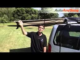 Portable Awnings For Cars How To Use The Rhino Rack Foxwing Roof Rack Awning Youtube