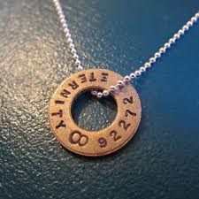 8th anniversary gift ideas for bronze necklace sted eternity circle great gift for
