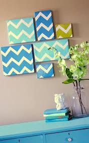 outstanding wall design diy modern chevron art wall decoration