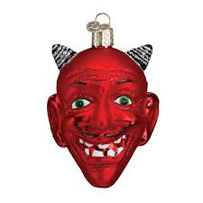 amazon com old world christmas devil head glass blown ornament