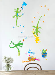 compare prices on gecko wall decoration online shopping buy low free shipping cartoon geckos paint diy removable wall stickers nursery kids bedroom home decor mural decal