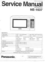panasonic microwave oven ne 1037 user guide manualsonline com